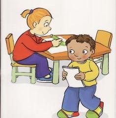 Imagen niños haciendo exámenes